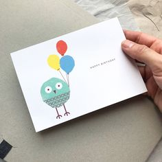For he's a jolly good fellow! Send good wishes with Abigail, our birthday Kautzi. Postcards, Happy Birthday, Etsy, Craft Gifts, Happy Brithday, Urari La Multi Ani, Happy Birthday Funny, Greeting Card, Happy Birth