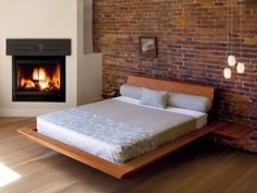 Thos. Moser, Edo Platform Bed  Love this but the dogs won't be able to sleep under it.
