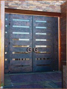 contemporary metal door