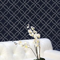This allover stencil was inspired by traditional Japanese kimono patterns of Edo period. Description from cuttingedgestencils.com. I searched for this on bing.com/images