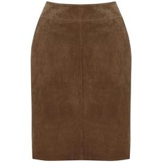 Warehouse Suede Skirt, Brown ($71) ❤ liked on Polyvore featuring skirts, brown, fitted skirts, pocket skirt, pencil skirt, suede skirt and suede pencil skirt
