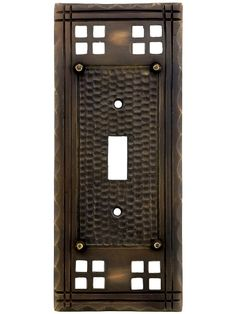 Lowes allen roth 1 gang oil rubbed bronze standard for Arts and crafts outlet covers