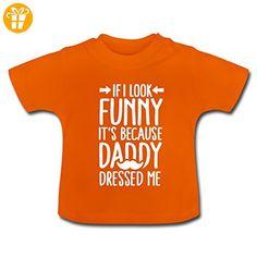Papa Hat Mich Angezogen Daddy Dressed Me Baby T-Shirt von Spreadshirt®, 18-24 Monate, Goldorange - Shirts mit spruch (*Partner-Link)