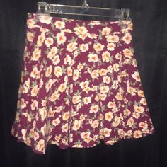 Forever 21 skater skirt Red floral. Great condition. Worn high-waisted. Size medium. Forever 21 Skirts Circle & Skater