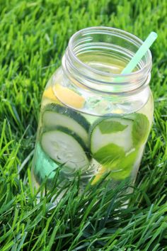 Minty Cucumber Lemon Water