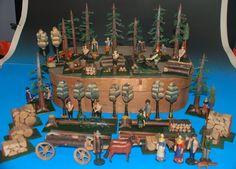 uralter Erzgebirge Waldschlag * Waldarbeiter Szene * 1. Qualität um 1850   eBay
