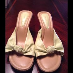 Wedge Heel Shoes Fioni shoes size 10W olive green.  Beautiful and comfortable. This Item is In Good condition, Authentic and from a Smoke and Pet free Home. Offers through the offer button ONLY. I Will not negotiate the price in the comment section  Thank You Fioni Shoes