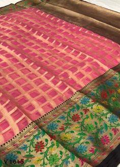 Sarees Online | Buy Sarees Online |@ ibuyfromindia.com Kora Silk Sarees, Kanjivaram Sarees, Green Saree, Pink Saree, Fancy Sarees, Party Wear Sarees, Silk Sarees With Price, South Indian Sarees, Work Sarees