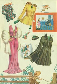 1943 Boots and Her Buddies paper doll clothes / eBay