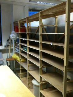 Studio Shelves with adjustable shelving slots - 'fun' project for Tom?