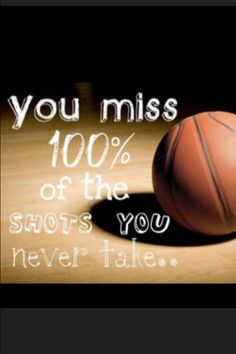 This is motivation for people to shoot while playing basketball. In my speech, I mention basketball as a way of exercise. This is a good motivational saying to use to get people off their feet. This is so true Sport Basketball, Basketball Motivation, Basketball Season, Love And Basketball, Basketball Players, Basketball Sayings, Basketball Drills, Motivational Basketball Quotes, Basketball Court