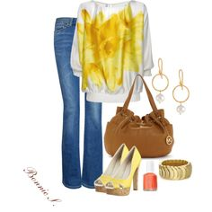 """yellow"" by bonnaroosky on Polyvore"