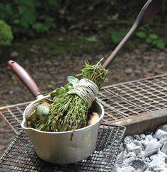A basting brush made from fresh herbs. Genius.