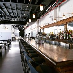 The enormous venue in Crown Heights, Brooklyn, belongs to the same group as insanely popular 'burg outings Smorgasburg and Brooklyn Flea – and is the result of some major work by Selldorf Architects who turned the former garage into the neighbourhood's hottest new eating and drinking hotspot...