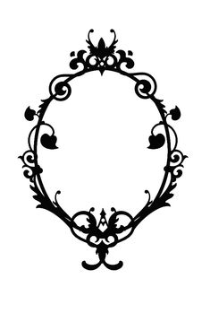cameo silhouette frame - for my tree?