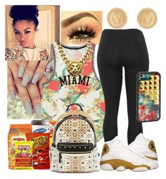 Miami by nyia101 on Polyvore featuring polyvore, fashion, style, Forever 21, MCM, Julie Vos and Wildflower