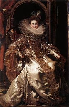 Portrait of Maria Serra Pallavicino, 1606, Peter Paul Rubens Size: 140x241 cm Medium: oil, canvas