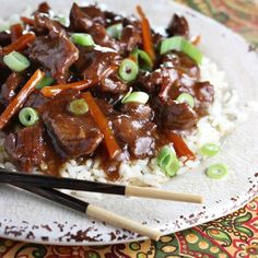 Slow Cooker Mongolian Beef - Cooking slow and steady gives you the most tender beef with an Asian twist.