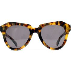 Karen Walker Number One Sunglasses ($220) ❤ liked on Polyvore featuring accessories, eyewear, sunglasses, glasses, sunnies, tortoise, tortoise shell sunglasses, plastic wine glasses, tortoise cat eye sunglasses and cateye sunglasses