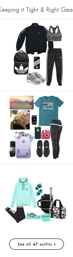 """""""Keeping it Tight & Right Gear"""" by davida-vassar ❤ liked on Polyvore featuring adidas, adidas Originals, Life is good, The Beach People, NIKE, Herbivore, Merkury, Fitbit, OtterBox and Herschel Supply Co."""
