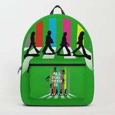 'All you need is' this rucksack! All You Need Is Love, Peace And Love, Zebra Crossing, College Bags, Artist Life, Toy Soldiers, School Bags, Pop Art, Backpacks