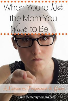 Do you ever feel like you're just not the mom you want to be? Then this is something you definitely need to read, from one imperfect mom to another!