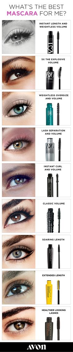 Find the perfect combination of brush and formula and lash out with Avon mascara. Whether you want to add the look of volume and length, or just take your lashes to next level healthy with vitamin and oil-enriched formulas, you'll find the perfect new mascara to add flirt to your flutter. Makeup 101, Makeup Goals, Skin Makeup, Makeup Inspo, Makeup Ideas, Eyeshadow Makeup, Makeup Products, Clown Makeup, Witch Makeup