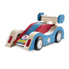 Pull it back and watch it zoom away—just sand, assemble and paint!