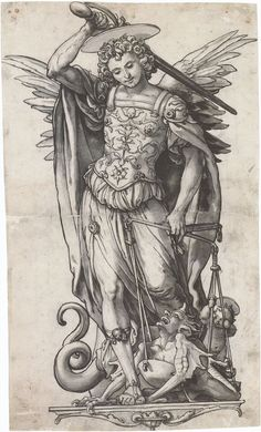 st michael archangel statue mural vinyl - Google Search