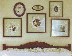 "Милые сердцу штучки: ""Оригинальная презентация"" Framed Doilies, Lace Doilies, Vintage Crafts, Vintage Decor, Vintage Linen, Doily Art, Doilies Crafts, Memory Crafts, Butterfly Frame"