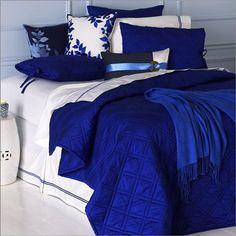 Photo of Blissliving Home Kahuna Royal Comforter Collection (Bedding, Bedding Sets) Royal Blue Bedrooms, Blue Rooms, Royal Blue Bedding, White Bedding, Royal Blue Walls, Satin Bedding, Purple Bedding, Bedroom Bed, Bedroom Apartment