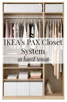 IKEA's PAX closet system - an honest review. Such helpful info from someone who installed one and has used it for years! #IKEA #pax #closet #organization