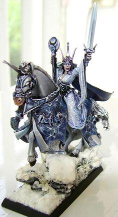 28mm Figurine Fantasy Paintings, Mini Paintings, Fantasy Art, Warhammer Empire, Warhammer Fantasy, Miniature Bases, Figurine Warhammer, Wood Elf, Fantasy Battle