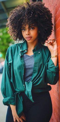 nice culry fro black girl so cute