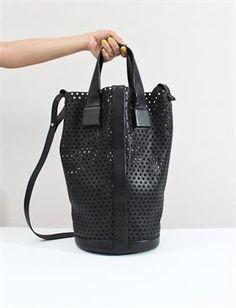 5c25ca2e02d5 Fausto Santini Alice Mesh Tote-Nero Nero Leather Handbags