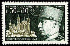 Général Diego Brosset 1898-1944 - Timbre de 1971