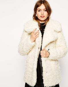 The fluffiest of coats. (faux fur of course!)