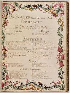 Beautiful old menu!