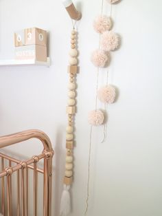 """Au Naturel"" Wooden Bead Garland/Mobile"