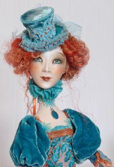 Marlene - art doll by Anna Zueva. Clay Dolls, Bjd Dolls, Doll Toys, Fairy Dolls, Pierrot Clown, Marionette, Paperclay, Hello Dolly, Antique Dolls