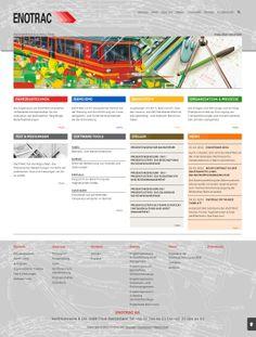 http://www.enotrac.com/ Ingenieurunternehmen für Eisenbahntechnik, Engineering und Consulting. #Weblication #Referenz