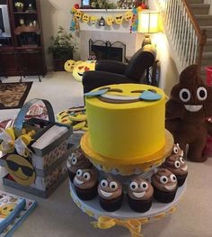 Check out these treats at an emoji birthday party! See more party ideas at CatchMyParty.com!