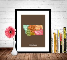 A personal favorite from my Etsy shop https://www.etsy.com/listing/227952194/montana-state-poster-home-decor-wall-art