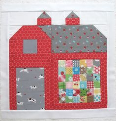 100 Brilliant Projects to Upcycle Leftover Fabric Scraps - Rab House Quilt Block, House Quilts, Barn Quilts, Quilt Blocks, Quilt Block Patterns, Pattern Blocks, Sewing Patterns Free, Free Sewing, Sewing Ideas