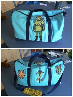 "Sac Boston ""Zelda"" cousu par Louisette C. - Patron sac weekend Sacôtin"