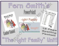 The -ight Family Packet ~ PowerPoint, Center Game & Spelling Bundle!