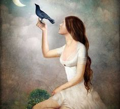 """The Moon Asked The Crow"" Digital Art by Christian Schloe posters, art prints, canvas prints, greeting cards or gallery prints. Find more Digital Art art prints and posters in the ARTFLAKES shop. Crow Art, Creation Photo, Whimsical Art, Surreal Art, Art Forms, Fantasy Art, Art Photography, Illustration Art, Christian"