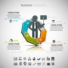 Business Infographic — Photoshop PSD #step #orange • Available here → https://graphicriver.net/item/business-infographic/13079701?ref=pxcr