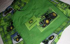 John Deere Short Set for Boys, sizes 3 thru 8, Custom made, Boutique Style. $22.95, via Etsy.