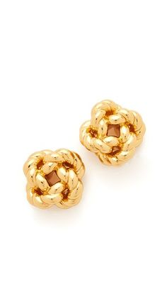 Tory Burch Rope Knot Stud Earrings #nautical #spring #style